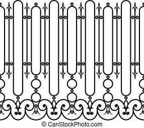 Fence wrought iron seamless