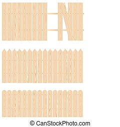 Fence_basic - The pieces of wooden planks to make fence