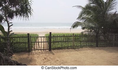 Fenced Bungalow Compound at a Hikkaduwa Beach - Simple gate...