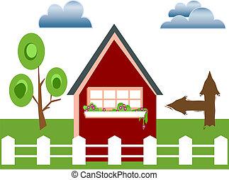 Fenced house