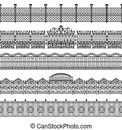 Fences Border Pattern Set