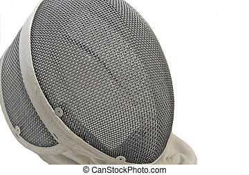 Fencing Mask - An isolated shot of a fencing mask.