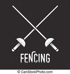 Fencing rapiers icon