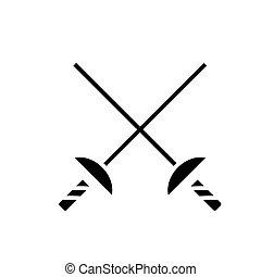 Fencing mask vector background illustration. Fencer ...