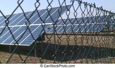 Fencing the territory on which the solar power elements....