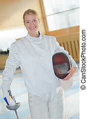fencing woman