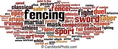 Fencing word cloud concept