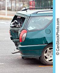 Fender-bender in car crash - A body damage after a car ...