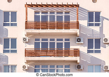 fenetres, balconies.