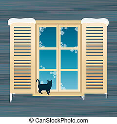 fenetres, chat