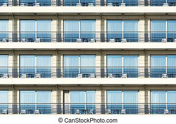fenetres, hotel., balcons