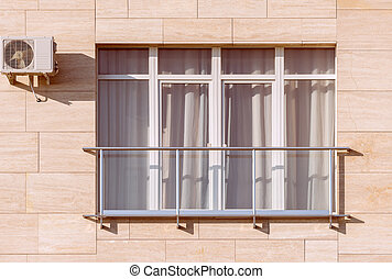 fenetres, maison mitoyenne, balcons, nouveau
