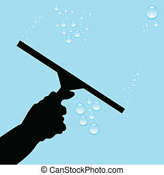 fenetres, nettoyage, illustration