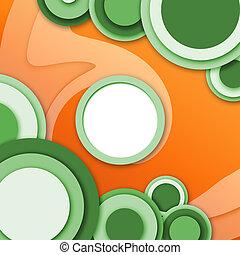 fenetres, résumé, rouge vert, circulaire