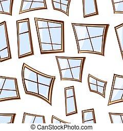 fenetres, seamless, bâtiment