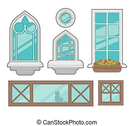 fenetres, types., divers, collection