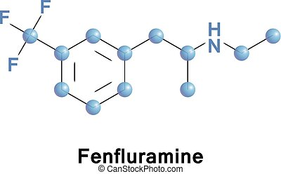 Fenfluramine or trifluoromethylethylamphetamine