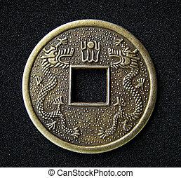 feng, monnaie, chinois, shui