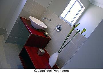 feng, salle bains, shui