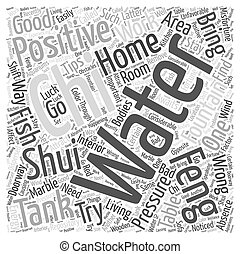 Feng Shui Home Tips Word Cloud Concept