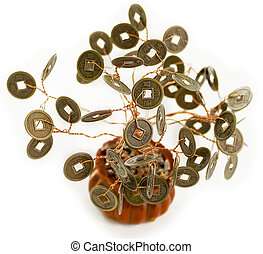 Feng Shui Money Tree, Symbol of wealth growth isolated on...