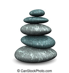 Feng Shui Stones - Feng shui stones on the white background.