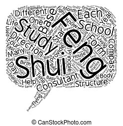 Feng Shui Study text background wordcloud concept