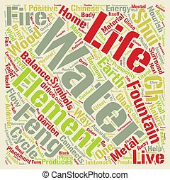 Feng Shui Water And The Cycle Of Life Word Cloud Concept Text Background