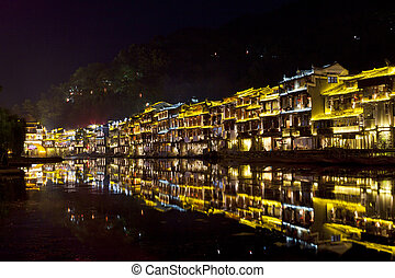 Fenghuang ancient town at night