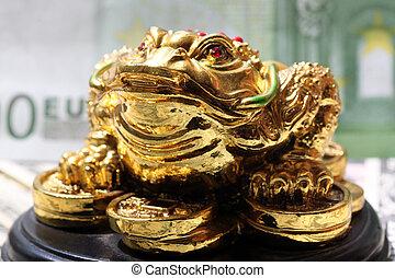 fengshui, お金, カエル