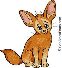 Fennec fox animal coloring page