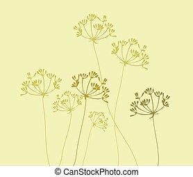 Fennel Background - vector fennel flower background