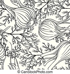 fennel seamless pattern