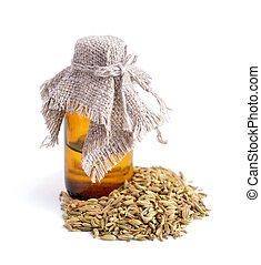 Fennel seeds with essetial oil.