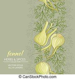 fennel vector background - fennel vegetable vector pattern...