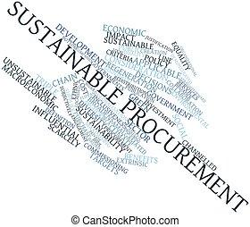fenntartható, procurement