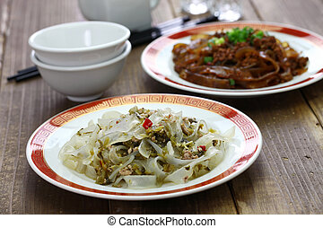 fenpi, green bean sheet jelly noodles, chinese home cooking...