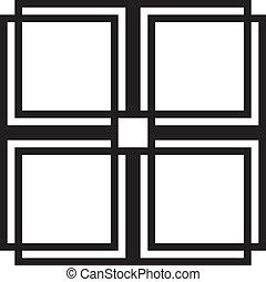 Fenster quadrat oder zaun element eps vektor suche for Fenster 800x800