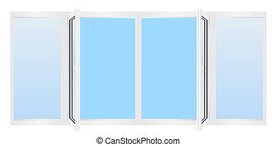wei es fenster plastik glasfenster morgen frische eps vektor suche clipart. Black Bedroom Furniture Sets. Home Design Ideas