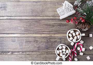 fenyő, élet, játékszer, mályvacukor, csészék, épület, -, két, csokoládé, csípős, elágazik, cukorkák, bogyók, mozdulatlan, karácsony