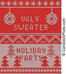 feo, plano de fondo, suéter, 1