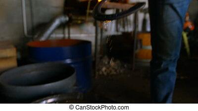 fer cheval, enlever, eau, metalsmith, 4k