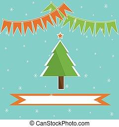 feriado, árvore, natal, fundo