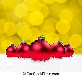 feriado, bauble natal, bulbos