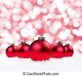 feriado, bulbos, com, cintilante, fundo