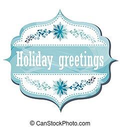 feriado, cartão cumprimento
