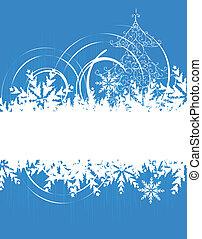 feriado, cartão natal, inverno