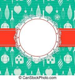 feriado, cartão natal