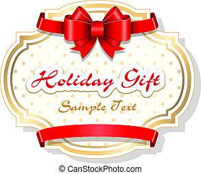 feriado, cartão presente, modelo