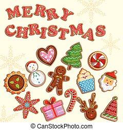 feriado christmas, biscoitos